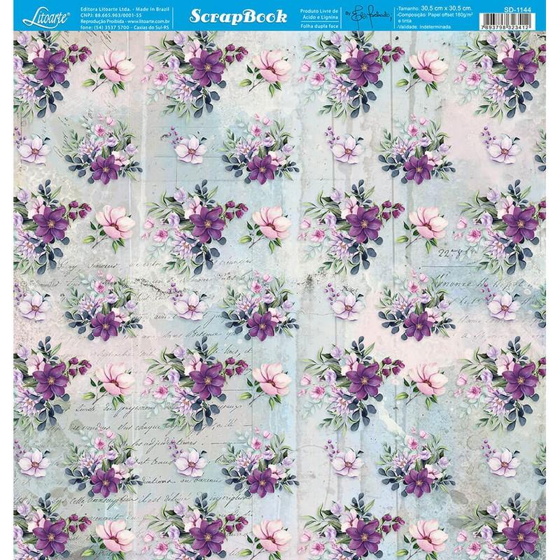 Papel Scrapbook  SD-1144 - Litoarte