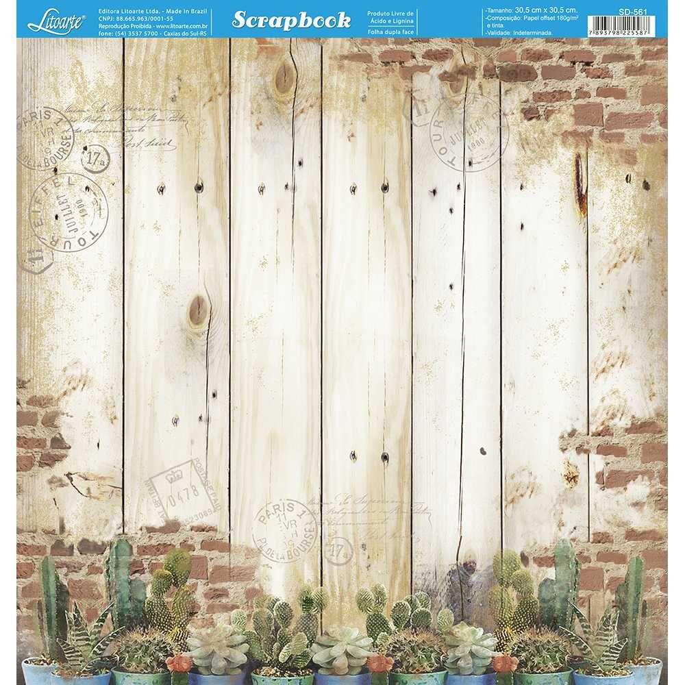 Papel Scrapbook SD-561 - Litoarte