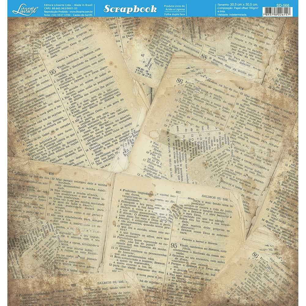Papel Scrapbook SD-566 - Litoarte