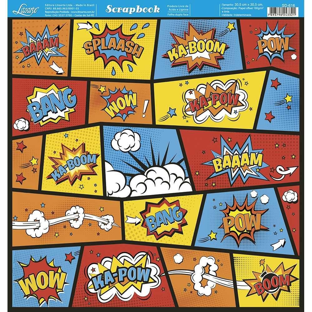 Papel Scrapbook SD-616 - Litoarte