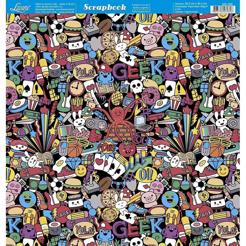 Papel Scrapbook SD-765 - Litoarte