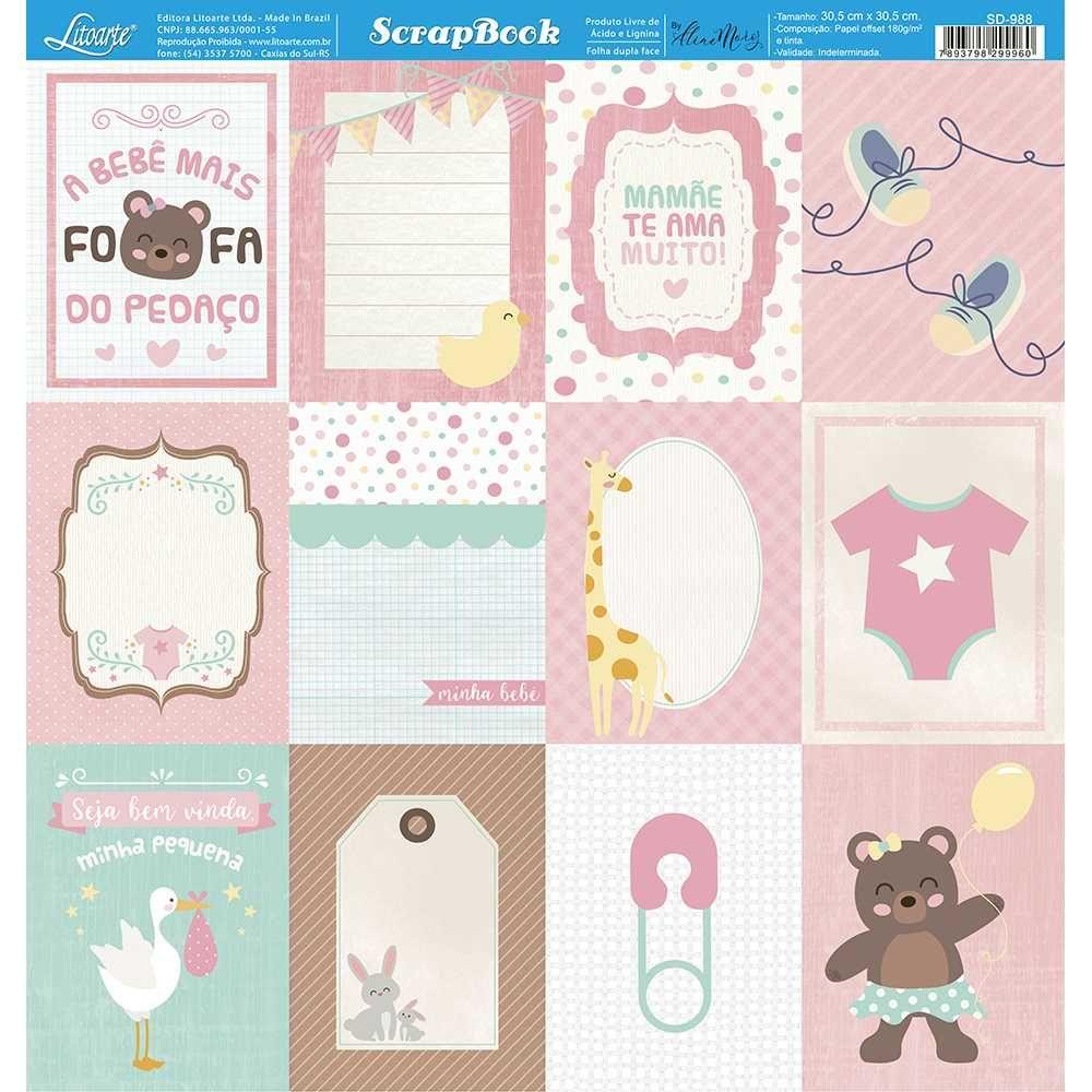 Papel Scrapbook SD-988 - Litoarte