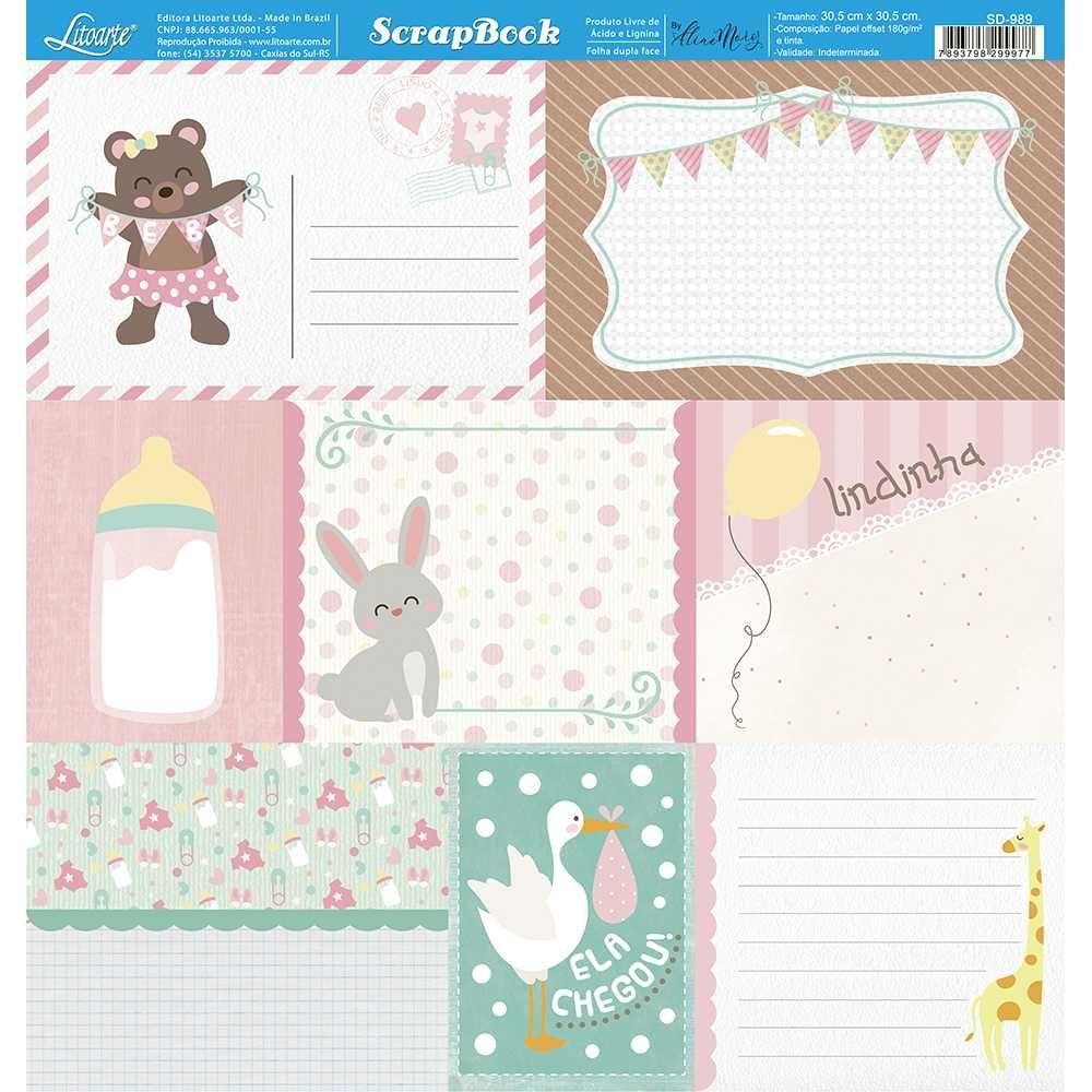 Papel Scrapbook SD-989 - Litoarte
