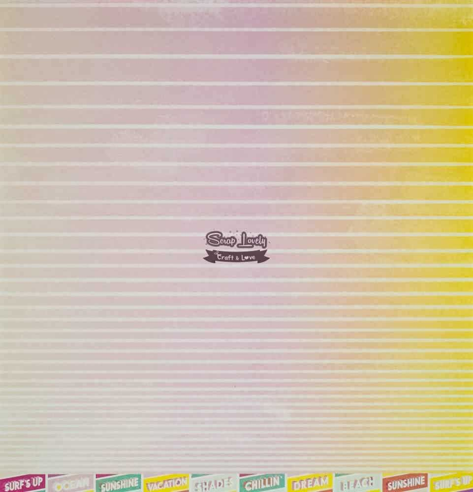 Papel Scrapbook Summer Lights Paper 04 - Pink Paislee