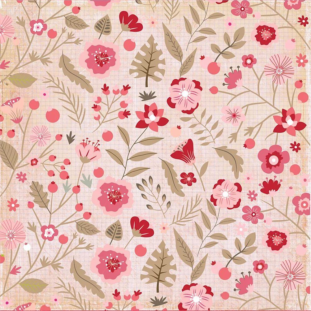 Papel Scrapbook Sweet Love Flores para Você - Dany Peres