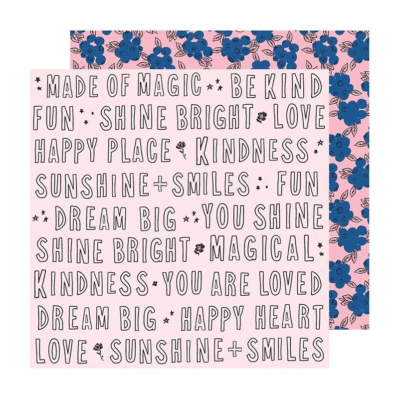 Papel Scrapbook Sweet Story Kindness - American Crafts