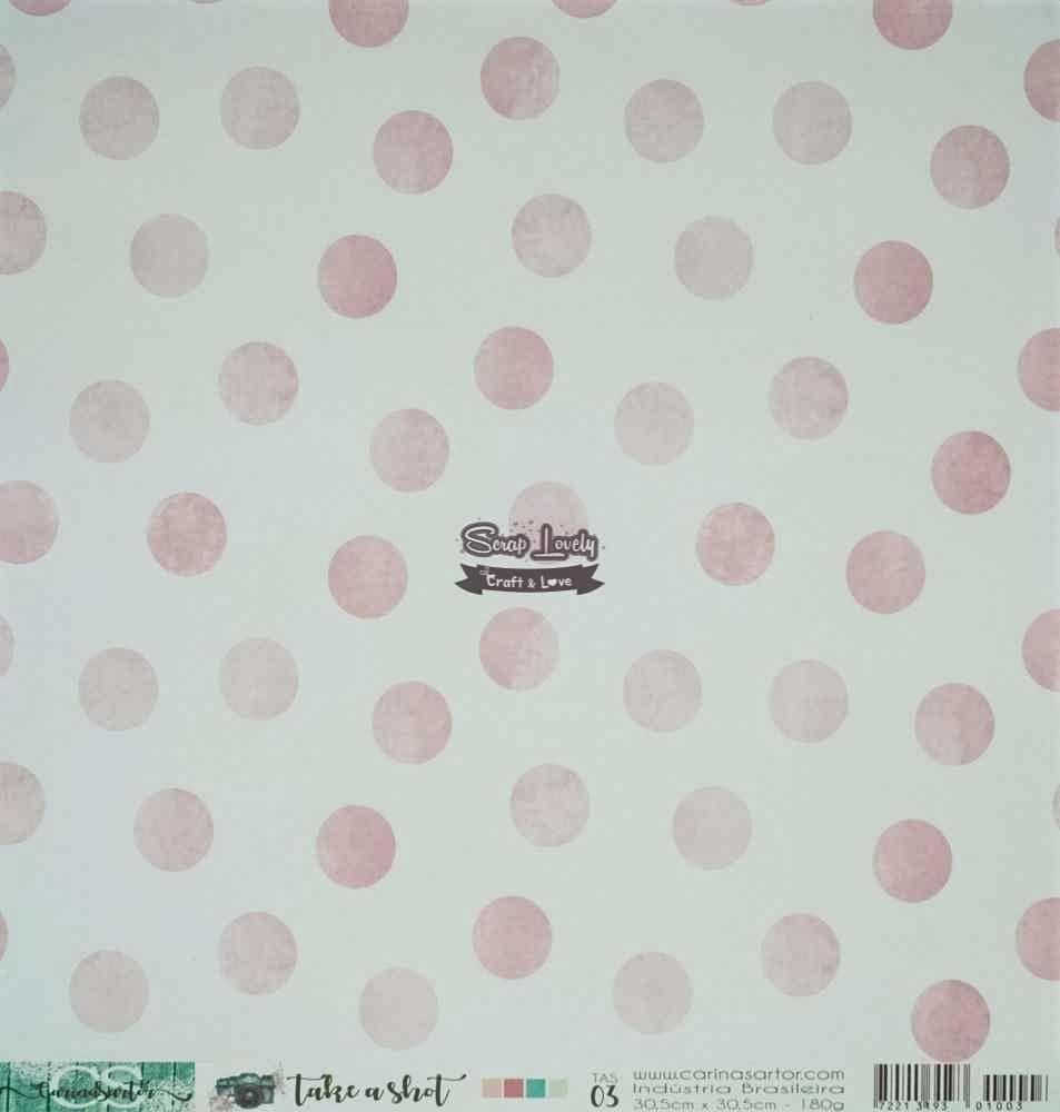 Papel Scrapbook Take a Shot TAS 03 - Carina Sartor