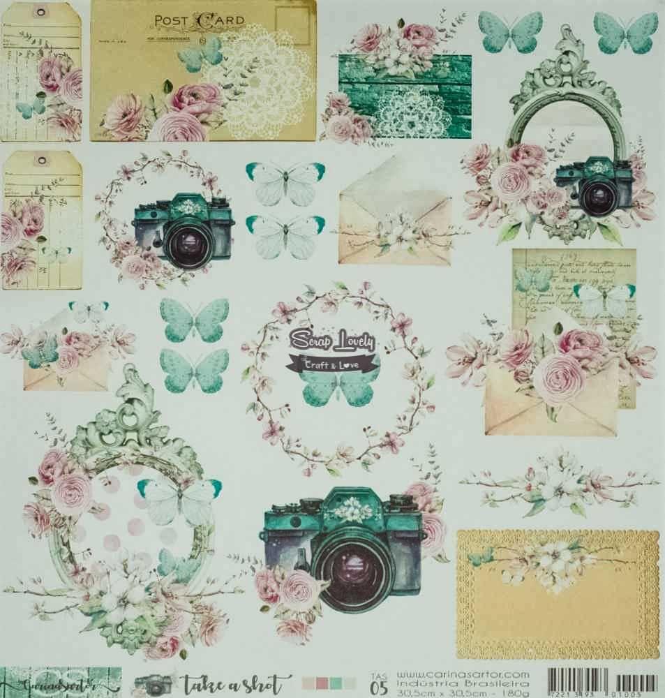 Papel Scrapbook Take a Shot TAS 05 - Carina Sartor