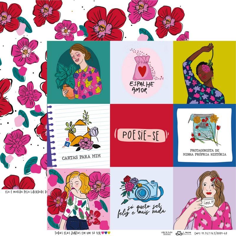 Papel Scrapbook Todos os Sonhos do Mundo Todas Elas Juntas em um só Ser - Atelie Craft