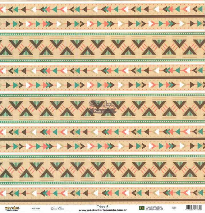 Papel Scrapbook Tribal 6 - Arte Fácil