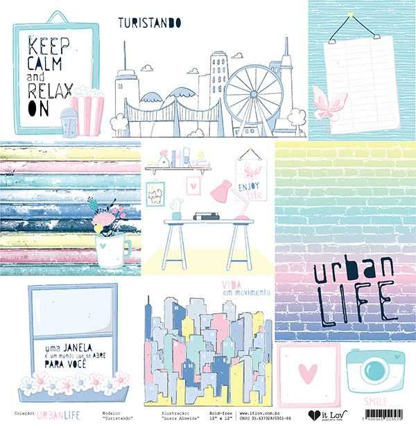 Papel Scrapbook Urban Life Turistando - It Lov