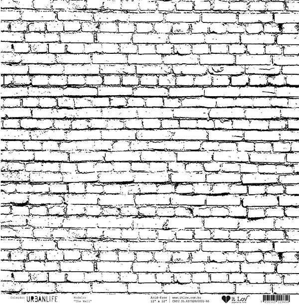 Papel Scrapbook Vegetal Urban Life The Wall - It Lov