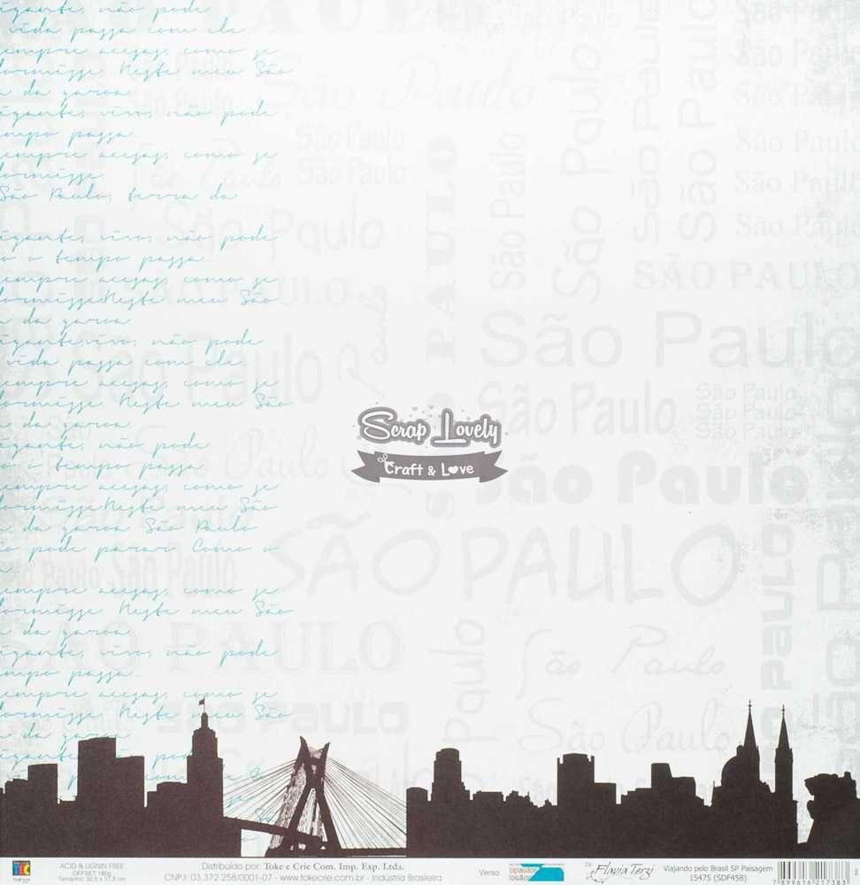 Papel Scrapbook Viajando Pelo Brasil SP Paisagem - Toke e Crie