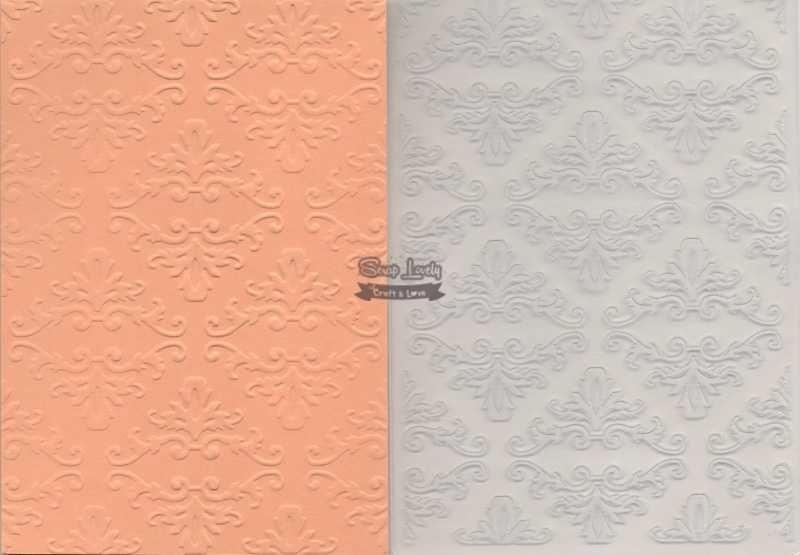 Placa de Emboss Arabesco 2 10,6cm x 15cm (A6) PE001-7 - Art e Montagem
