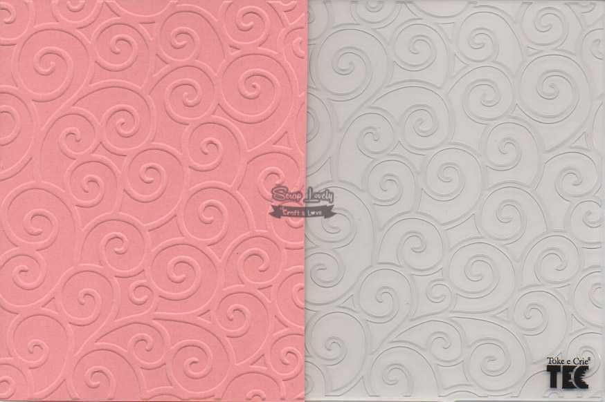 Placa de Emboss Arabescos 12,8cm x 18cm 20923 (PPR009) - Toke e Crie