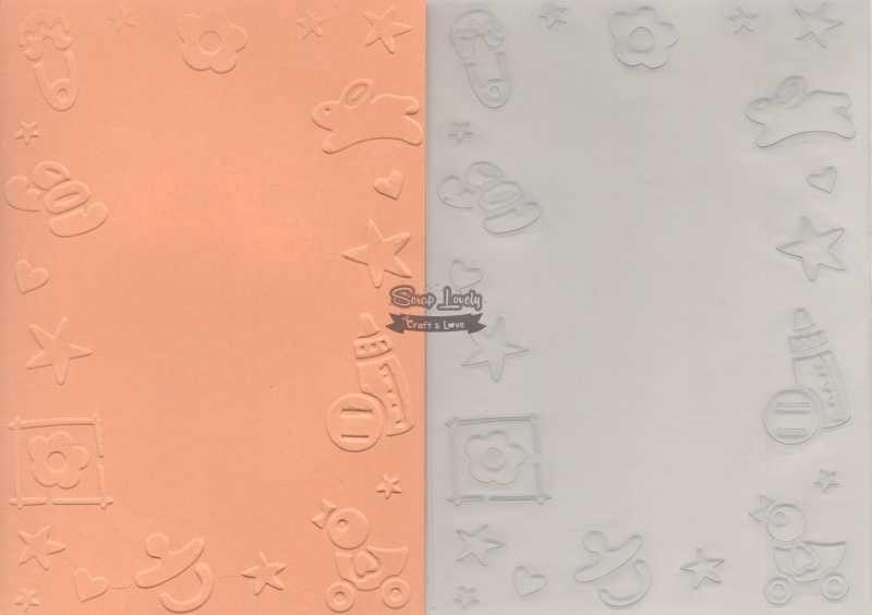 Placa de Emboss Bebê 10,6cm x 15cm (A6) PE001-12 - Art e Montagem