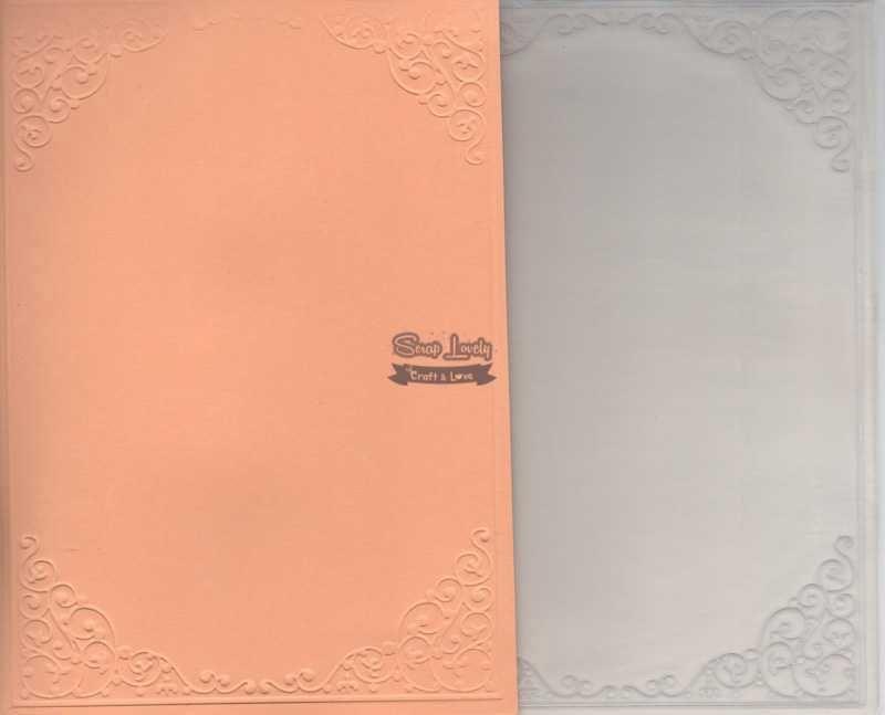 Placa de Emboss Cantoneira 12,7cm x 17,7cm PE002-4 - Art e Montagem