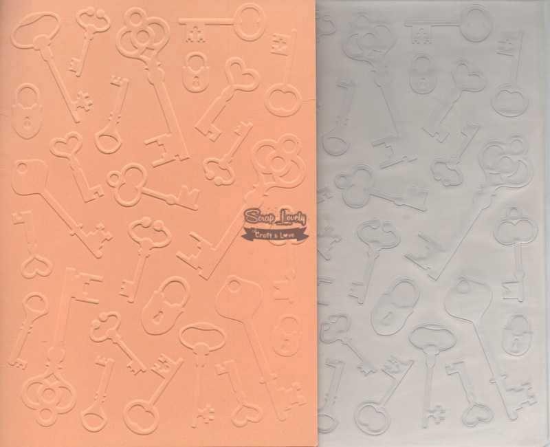 Placa de Emboss Chaves 12,7cm x 17,7cm PE002-2 - Art e Montagem