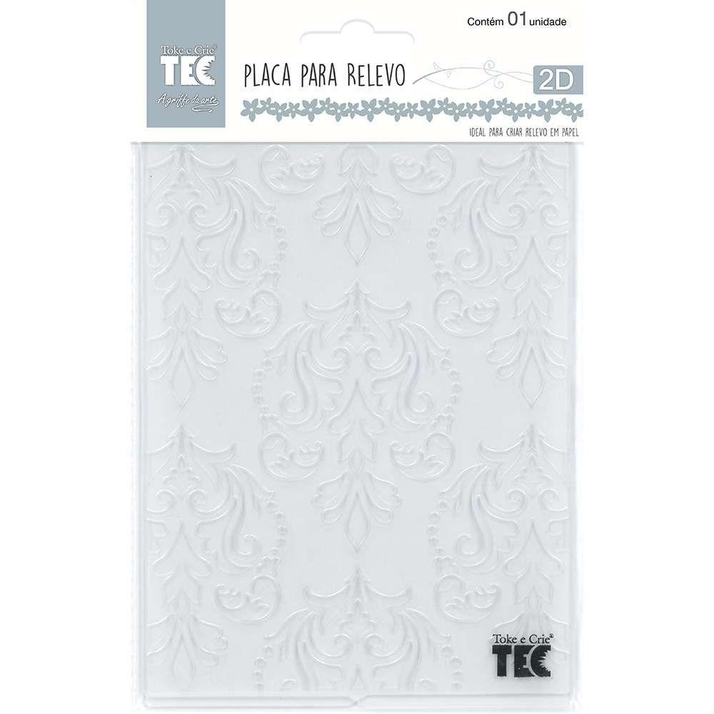 Placa de Emboss Clássico Europeu 10,9cm x 14,2cm 20918 (PPR004) - Toke e Crie