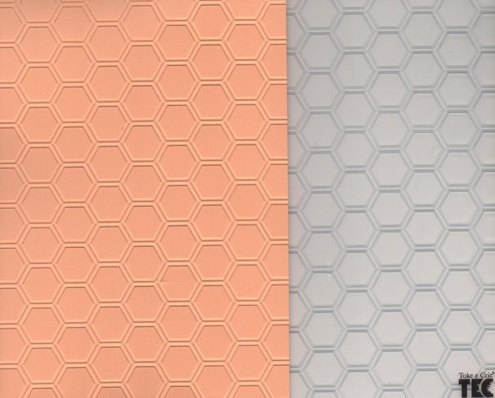 Placa de Emboss Colméia 12,8cm x 18cm 21459 (PPR022) - Toke e Crie