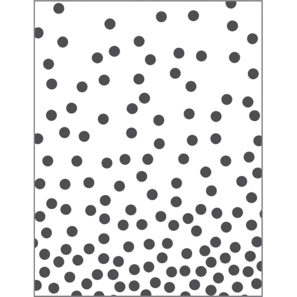 Placa de Emboss Confete 7,5cm x 12,5cm 21802 (PPR026) - Toke e Crie