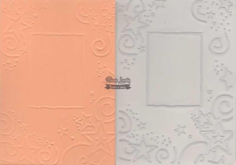 Placa de Emboss Estrelas com Moldura 10,6cm x 15cm (A6) PE001-8 - Art e Montagem