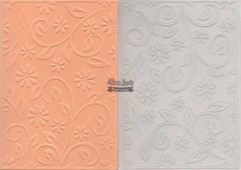 Placa de Emboss Flores 2 10,6cm x 15cm (A6) PE001-22 - Art e Montagem