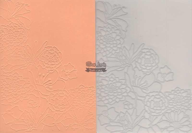 Placa de Emboss Flores 3 10,6cm x 15cm (A6) PE001-27 - Art e Montagem