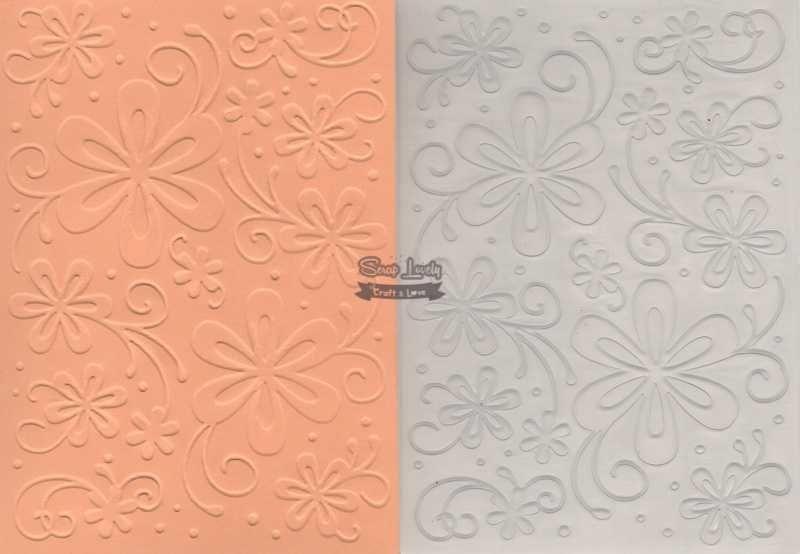Placa de Emboss Flores 4 10,6cm x 15cm (A6) PE001-23 - Art e Montagem
