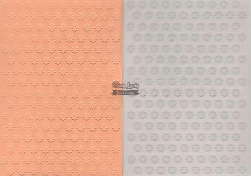 Placa de Emboss Flores 6 10,6cm x 15cm (A6) PE001-6 - Art e Montagem