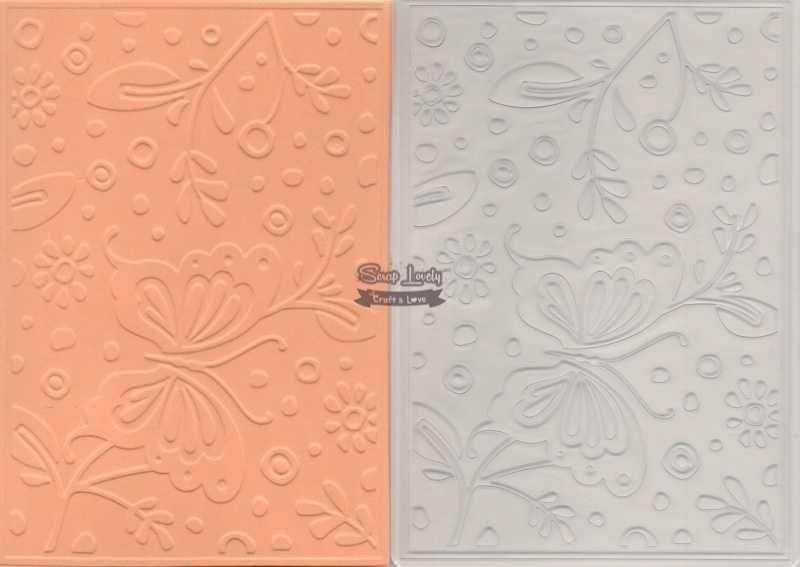 Placa de Emboss Flores e Borboletas 12,7cm x 17,7cm PE001-16 - Art e Montagem