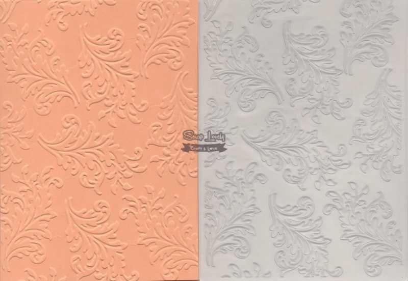 Placa de Emboss Folhas 10,6cm x 15cm (A6) PE001-25 - Art e Montagem