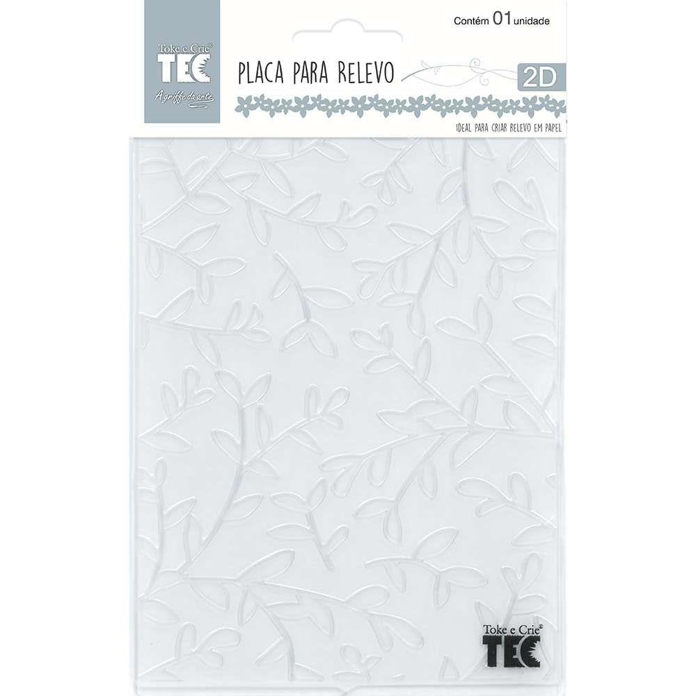 Placa de Emboss Galhos 10,9cm x 14,2cm 20921 (PPR007) - Toke e Crie