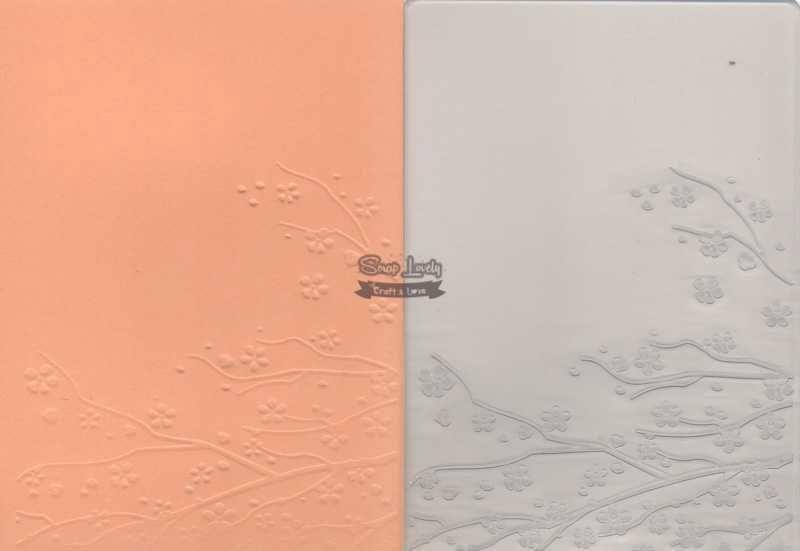 Placa de Emboss Galhos e Flores 10,6cm x 15cm (A6) PE001-34 - Art e Montagem