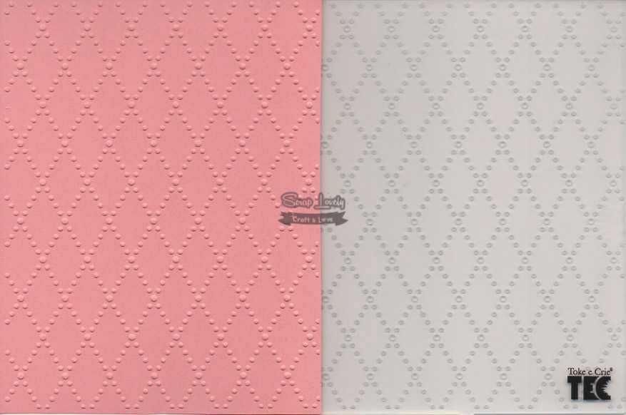 Placa de Emboss Losango 10,9cm x 14,2cm 20924 (PPR010) - Toke e Crie