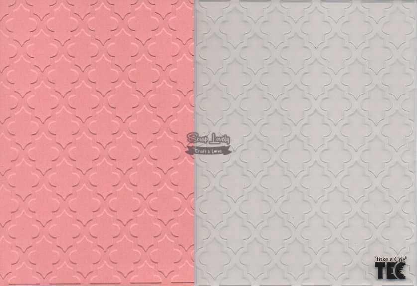 Placa de Emboss Marroquino 10,9cm x 14,2cm 20920 (PPR006) - Toke e Crie