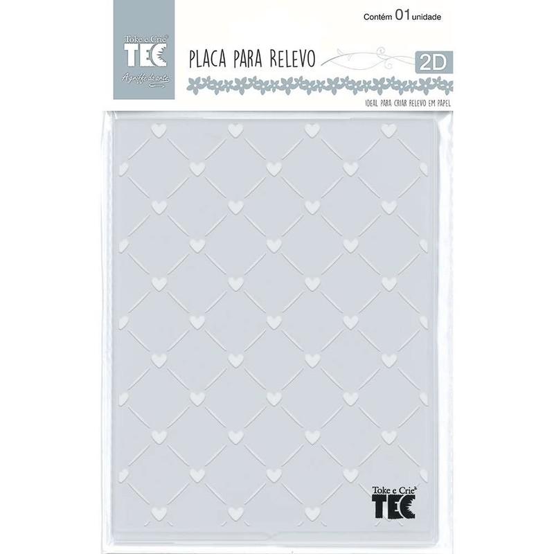 Placa de Emboss Mini Corações 10,6cm x 15cm (A6) 21454 - Toke e Crie