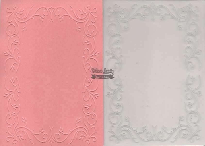 Placa de Emboss Moldura com Galhos 10,6cm x 15cm (A6) PE001-29 - Art e Montagem
