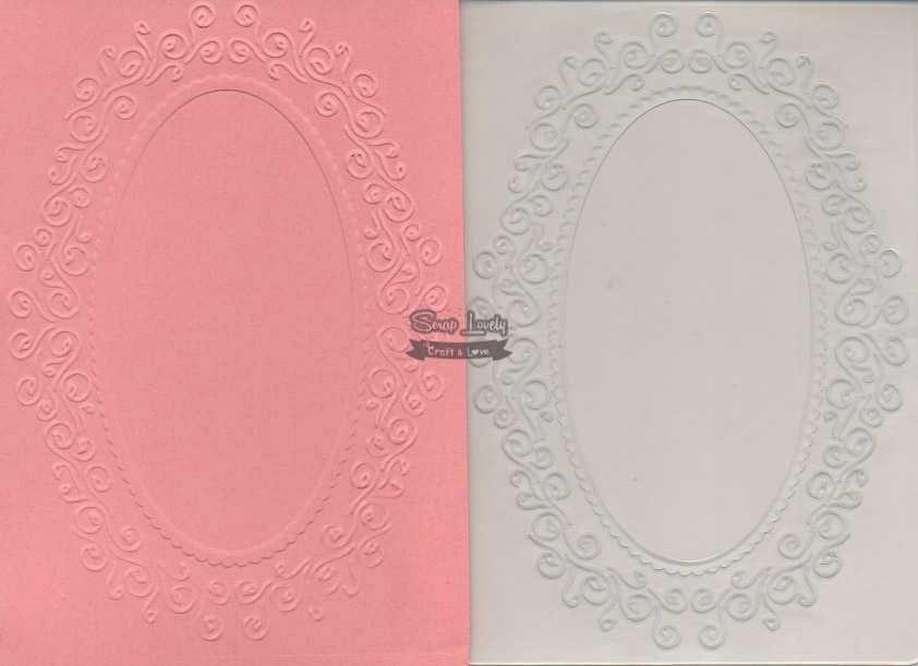 Placa de Emboss Moldura Redonda 10,6cm x 15cm (A6) PE001-28 - Art e Montagem