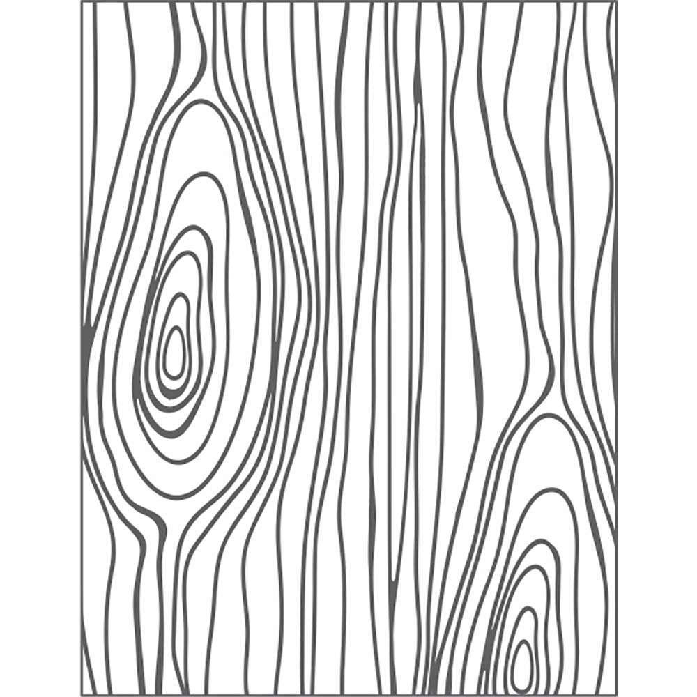 Placa de Emboss Nó de Madeira 10,9cm x 14,2cm 20922 (PPR008) - Toke e Crie