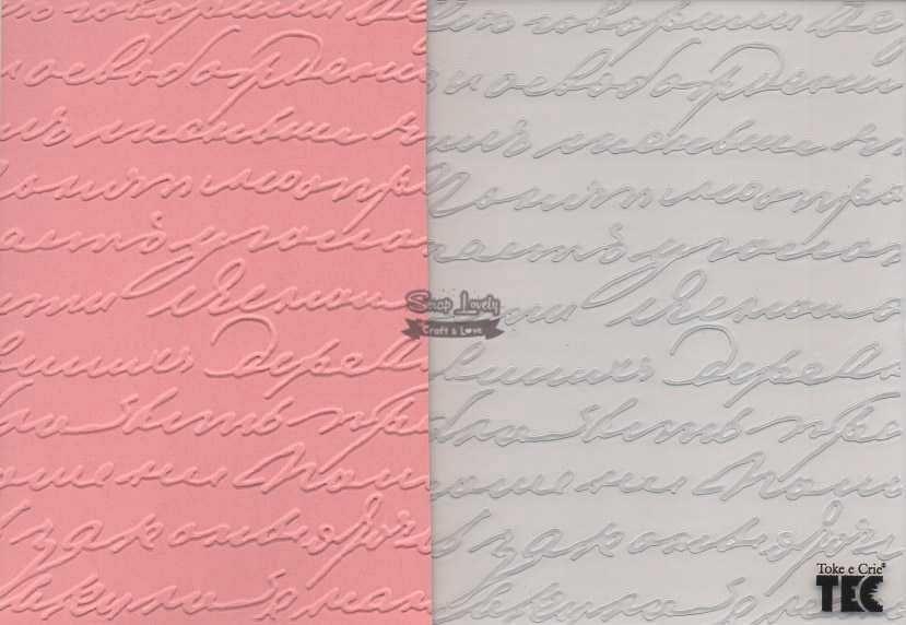 Placa de Emboss Palavras 10,9cm x 14,2cm 20919 (PPR005) - Toke e Crie