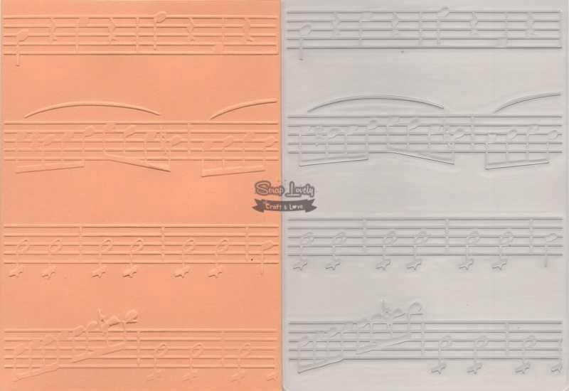 Placa de Emboss Partitura 10,6cm x 15cm (A6) PE001-18 - Art e Montagem