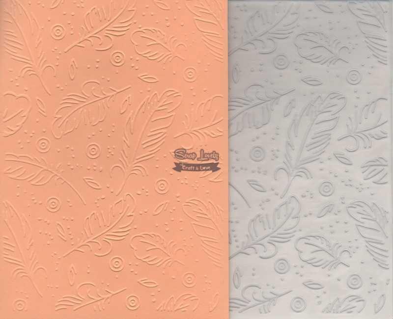 Placa de Emboss Penas 12,7cm x 17,7cm PE002-6 - Art e Montagem