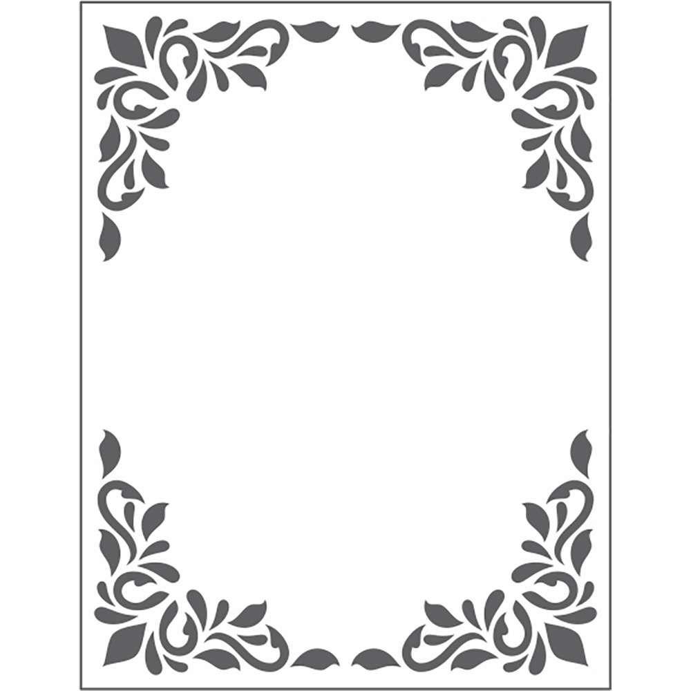 Placa de Emboss Quadro Decorativo 10,9cm x 14,2cm 20915 (PPR001) - Toke e Crie