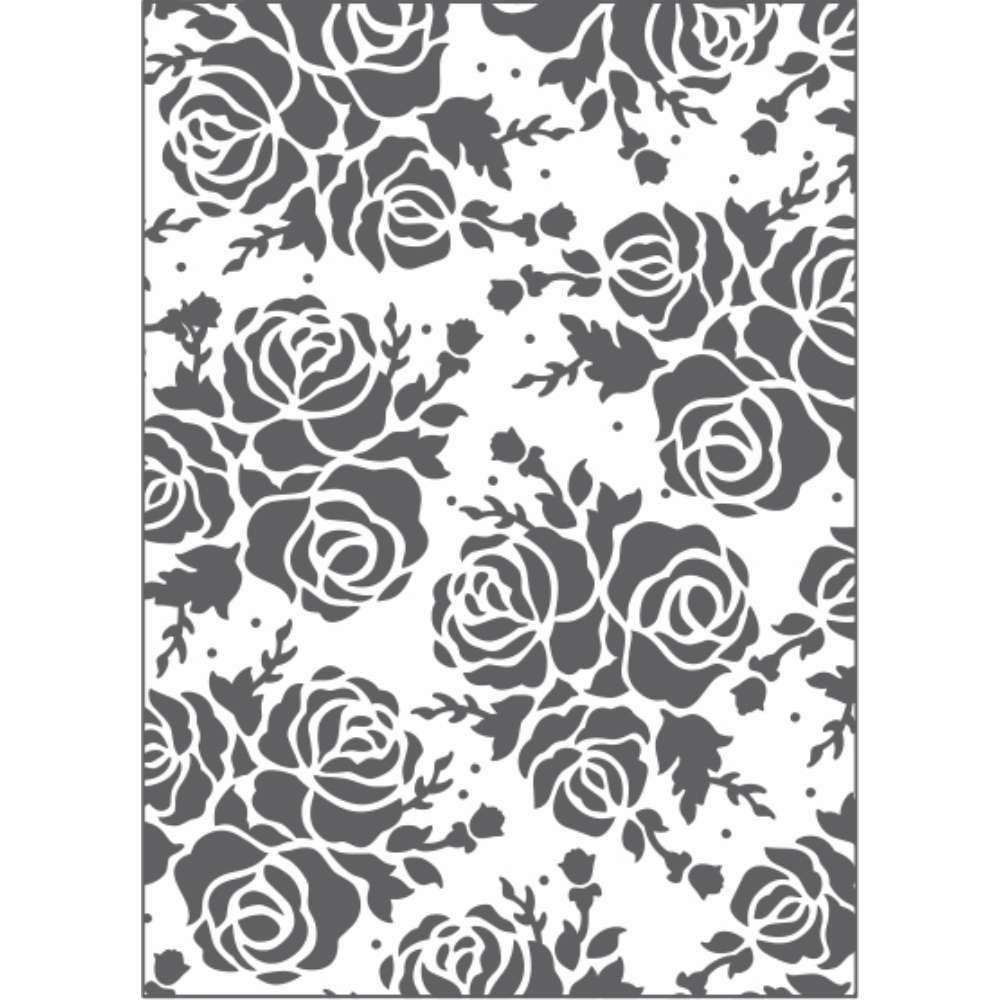 Placa de Emboss Rosa 12,8cm x 18cm 21456 (PPR019) - Toke e Crie