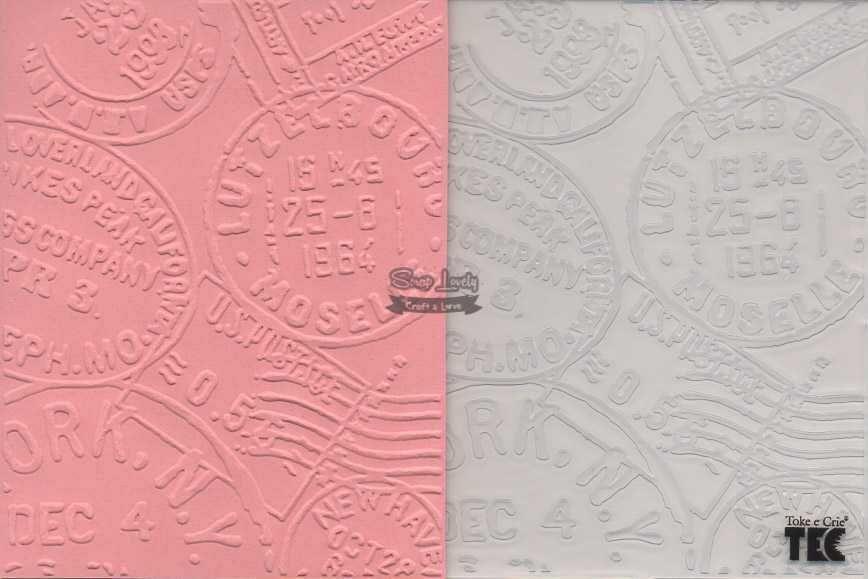 Placa de Emboss Selos 10,9cm x 14,2cm 20925 (PPR011) - Toke e Crie