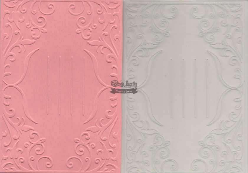Placa de Emboss Tag com Arabesco 10,6cm x 15cm (A6) PE001-21 - Art e Montagem