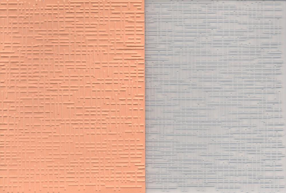 Placa de Emboss Tecido e Colméia 11cm x 14,5cm - We R Memory Keepers