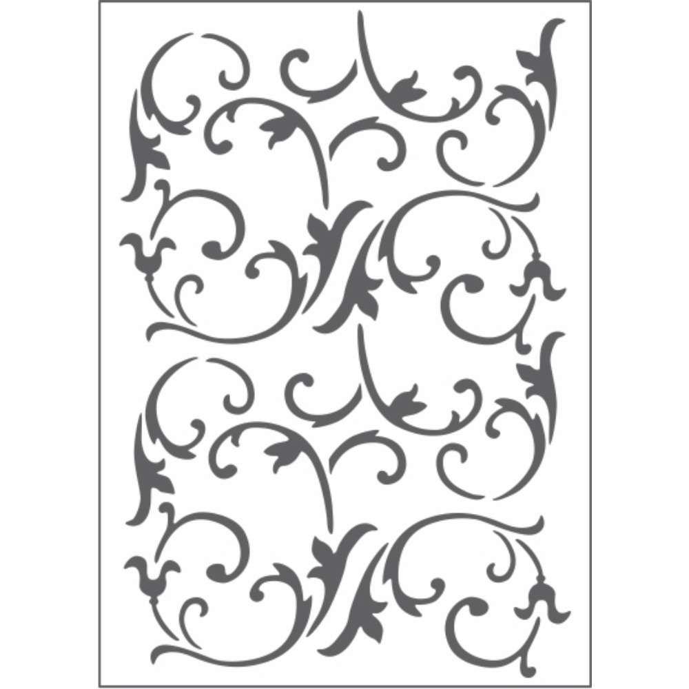 Placa de Emboss Videira 12,8cm x 18cm 21458 (PPR021) - Toke e Crie