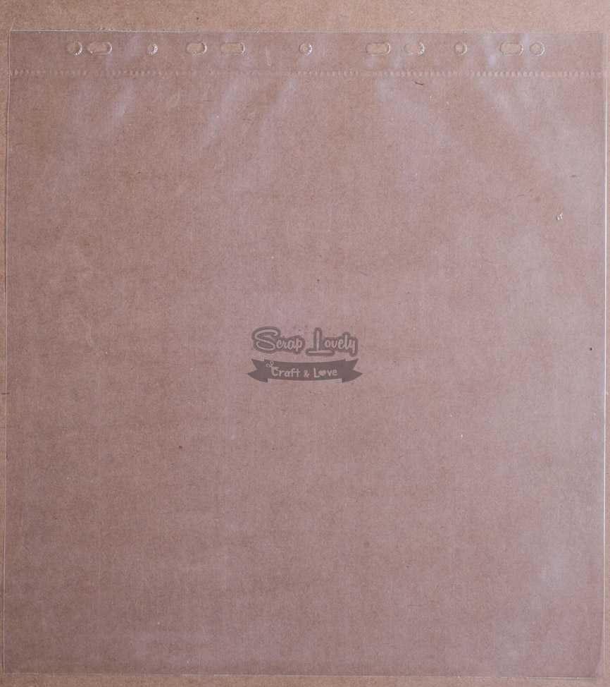 Refil Plástico p/ Álbum 33cm x 31cm Liso - Oficina do Papel